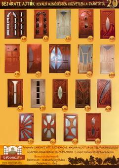 Ajtó-Ablak-Prospektusok    Labonczfa beltéri ajtó és fa bejárati ajtó 31bd4854ce