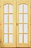 Dusa beltéri ajtó félig üvegezhető